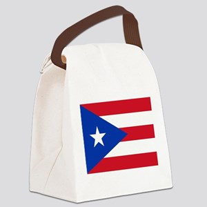 Puerto Rican Flag Canvas Lunch Bag