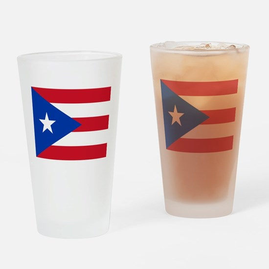 Puerto Rican Flag Drinking Glass