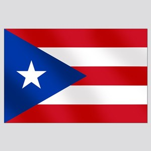 Puerto Rican Flag Large Poster