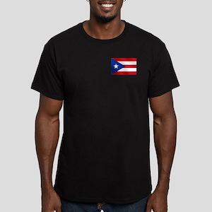 Puerto Rican Flag Men's Fitted T-Shirt (dark)