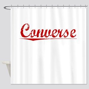 Converse, Vintage Red Shower Curtain