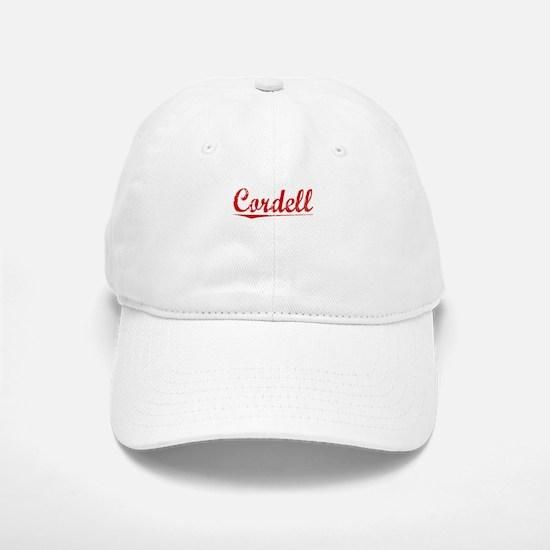 Cordell, Vintage Red Baseball Baseball Cap