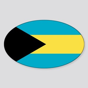 Flag of the Bahamas Sticker (Oval)
