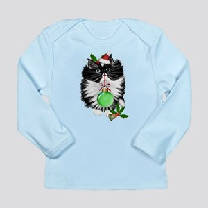 A Tuxedo Merry Christmas Long Sleeve Infant T-Shir