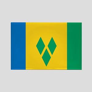 Saint Vincent Grenadines Flag Rectangle Magnet