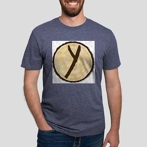 Letter Y Log End Mens Tri-blend T-Shirt