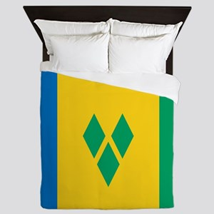 Saint Vincent Grenadines Flag Queen Duvet