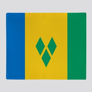 Saint Vincent Grenadines Flag Throw Blanket