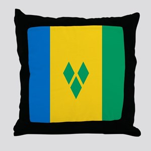 Saint Vincent Grenadines Flag Throw Pillow