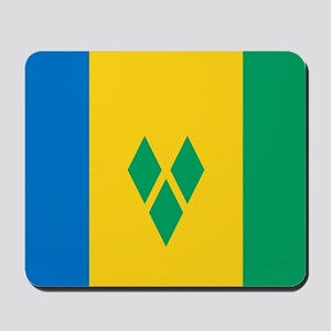 Saint Vincent Grenadines Flag Mousepad