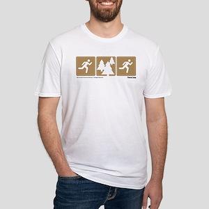 Run Forrest Run Fitted T-Shirt