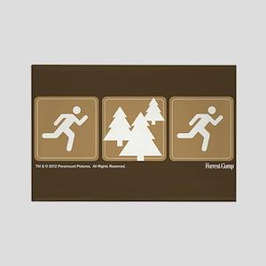 Run Forrest Run Rectangle Magnet