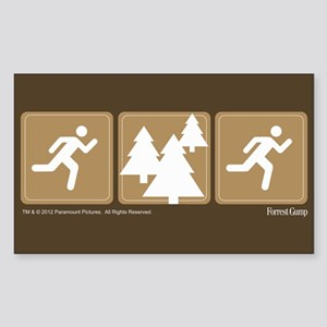 Run Forrest Run Sticker (Rectangle)