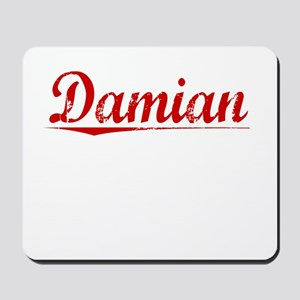 Damian, Vintage Red Mousepad