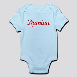 Damian, Vintage Red Infant Bodysuit