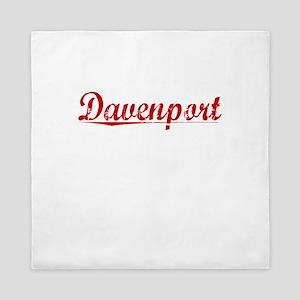 Davenport, Vintage Red Queen Duvet