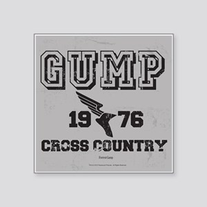 "Cross Country Square Sticker 3"" x 3"""