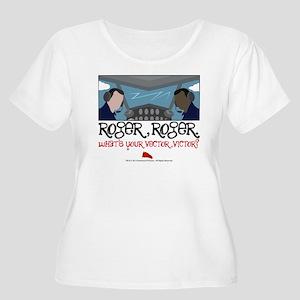 Roger Roger Women's Plus Size Scoop Neck T-Shirt