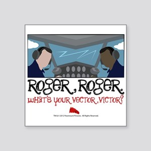 "Roger Roger Square Sticker 3"" x 3"""