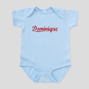 Dominique, Vintage Red Infant Bodysuit