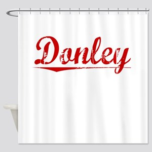 Donley, Vintage Red Shower Curtain
