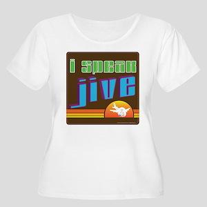 JIve Women's Plus Size Scoop Neck T-Shirt
