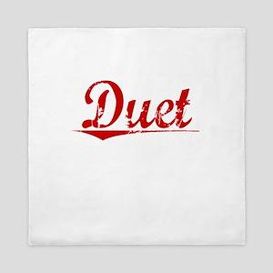 Duet, Vintage Red Queen Duvet
