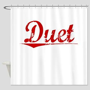 Duet, Vintage Red Shower Curtain
