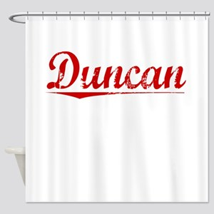 Duncan, Vintage Red Shower Curtain