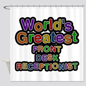 World's Greatest FRONT DESK RECEPTIONIST Shower Cu