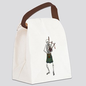 Bagpiper Skeleton Canvas Lunch Bag