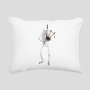 Bagpipes Playing Skeleto Rectangular Canvas Pillow
