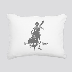 Bassist To The Bone Rectangular Canvas Pillow