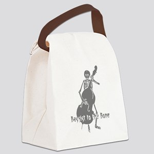 Bassist To The Bone Canvas Lunch Bag