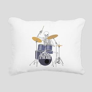 Bone Drummer Rectangular Canvas Pillow