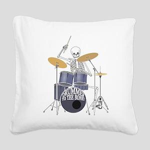 Bone Drummer Square Canvas Pillow