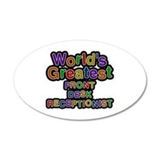 World's Greatest FRONT DESK RECEPTIONIST Wall Decal