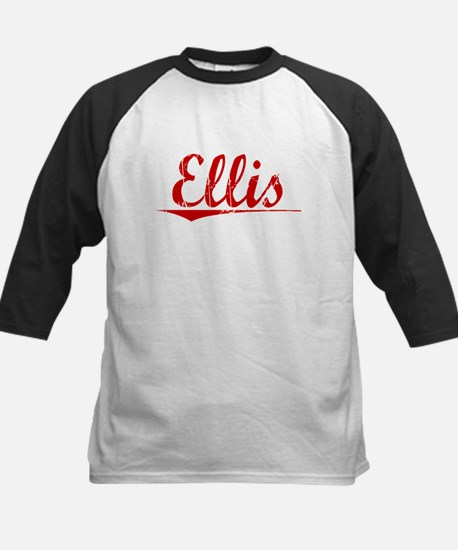 Ellis, Vintage Red Kids Baseball Jersey