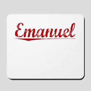Emanuel, Vintage Red Mousepad