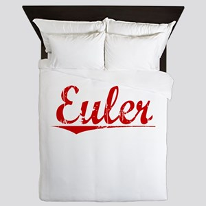 Euler, Vintage Red Queen Duvet