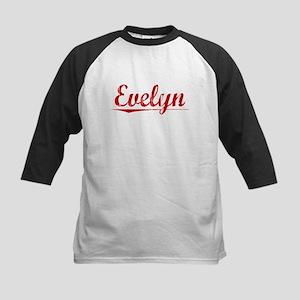 Evelyn, Vintage Red Kids Baseball Jersey