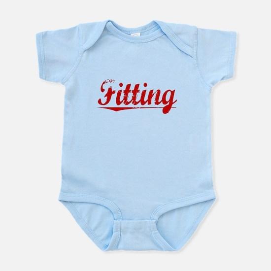 Fitting, Vintage Red Infant Bodysuit