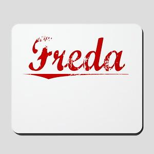 Freda, Vintage Red Mousepad