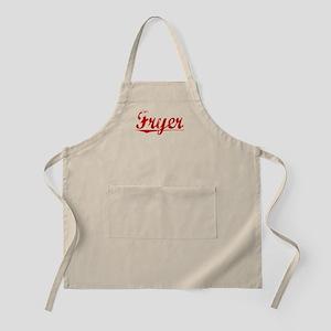 Fryer, Vintage Red Apron
