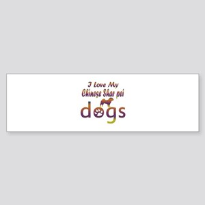 Chinese Shar Pei designs Sticker (Bumper)