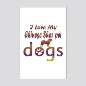 Chinese Shar Pei designs Mini Poster Print