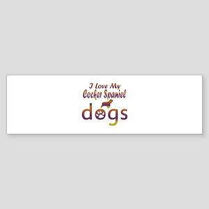 Cocker Spaniel designs Sticker (Bumper)