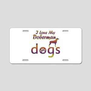 Doberman designs Aluminum License Plate