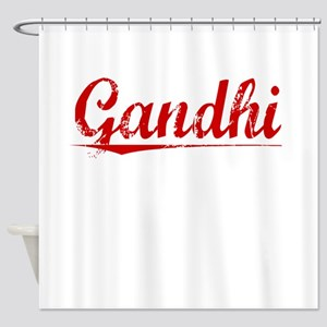 Gandhi, Vintage Red Shower Curtain
