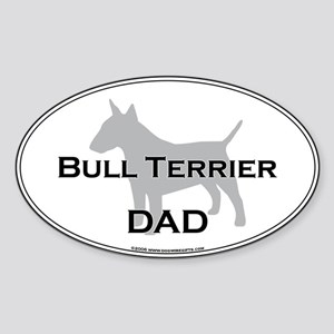 Bull Terrier DAD Oval Sticker